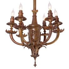 French Classical Revival 6-Light Chandelier C1910