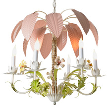 Toleware 6-Light Palm Tree Chandelier C1945