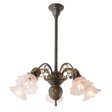 Stunning 5-Light Beaux Arts Chandelier W/ Ornate Ormolu C1905
