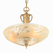 Center Post Chandelier with Classical Motif C1940