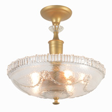 Classically Inspired Pressed Glass Center Post Fixture C1940s