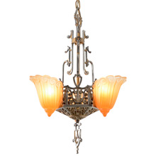 "Popular Sears ""Fleur-De-Lis"" Chandelier By Lincoln, C1932"