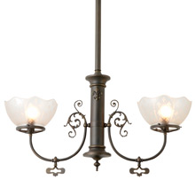 Transitional 2-Light Fixture W/ Fleur de Lis Motif C1910