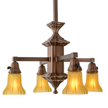 Handsome 4-Light Sheffield Chandelier C1910