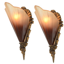 "Pair of Art Deco ""Soleure"" Sconce, c1932"