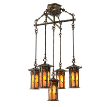 Historic Markham House 5-Light Chandelier C1911
