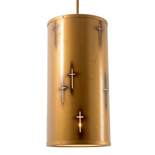 Salvaged Mid-Century Church Light Pendant C1960