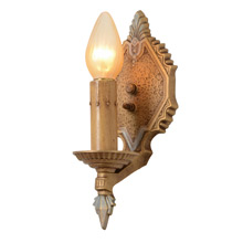 Art Deco Polychrome Sconce By Markel, C1928
