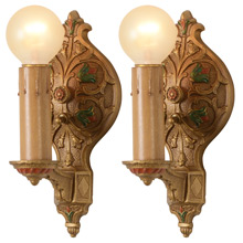 Pair Of Delicate Colonial Revival Candle Sconces, c1925