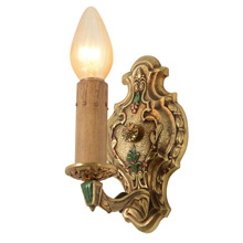 Pair of Cast Brass Revival-Style Sconces, C1928