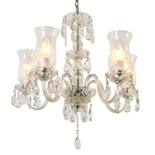 Late Colonial Revival Cut Glass Chandelier C1940