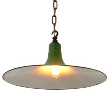 Green Enamel Warehouse RLM Chain Pendant, c1930
