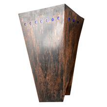 Formal Art Deco Copper Sconce, c1938