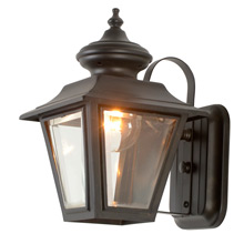 Traditional Porch Lantern W/ Beveled Glass C1945