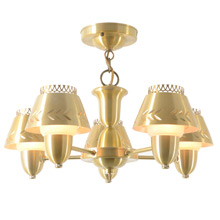 Transitional Mid-Century 5-Light Chandelier C1958