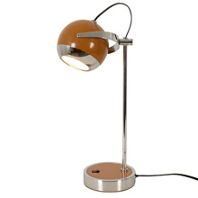 "Adjustable Modern Chrome PlatedAdjustable Modern Chrome Plated ""Eye Ball"" Lamp C1965"