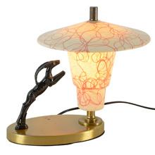 Mid-Century Television Lamp W/ Fiberglass Shade C1950