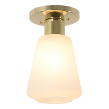Flared Mid-Century Flush Mount Fixture C1955