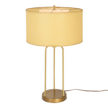 Mid-Century Tubular Desk Lamp W/ Resin Paper Shade C1960