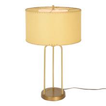 Mid-Century Tubular Desk Lamp W/ Resin Paper Shade C1960