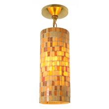 Mid-Century Amber Mosaic Pendant C1960's