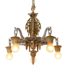 Beautiful 5-Light Drop Chandelier by Riddle C1931