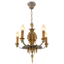 Stunning 5-Light Candle Chandelier by Riddle C1931