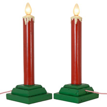 Pair of Santa Land Candle Stick Lights C1960