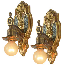 Pair Of Stunning Classical Revival Wall Sconces, C1929