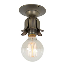 Simple and Elegant Bare Bulb Beam Light, c1920