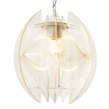 Round Plexiglass and Nylon Pendant C1965
