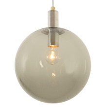 Late Mid-Century Pendant W/ Smoke Glass Globe C1968