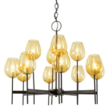 Contemporary 12-Light Chandelier by Lightolier, C1966