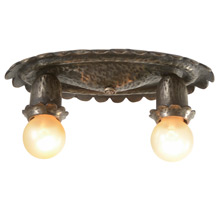 Pewter Historic Revival Flush Mount Light C1920s