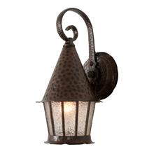 Boldly Hammered Romance Revival Lantern, C1955
