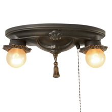 Historic Revival 2-Light Oval Fixture W/ Pull Chain by ArtCraft C1928