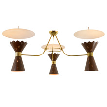 Mid-Century Gypsy Lounge 3-Light Chandelier C1963