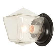 Cast Iron Porch Light w/ Glass Lantern Shade C1940