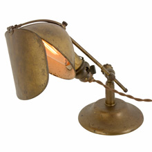 Nicely Patinated Lyhne Shaded Task Light, c1912
