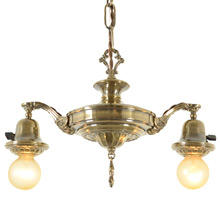 Two-Light Colonial Revival Pan Fixture, C1925