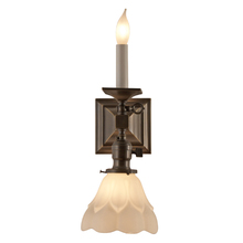 Mission Sconce w/ Candle and Shade c1905
