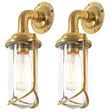 Pair of Stunning Modern Brass Nautical Sconce C1960