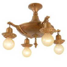 Semi-Flush Dual Tone Pan Light, c1922