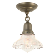 Beyond-Charming Fixture with Prismatic Shade, C1905