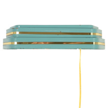 "Classic Teal Moderne ""Wall Pocket"" Pin Up Sconce, C1935"