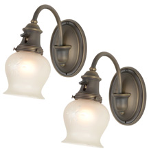 Pair of Colonial Revival Curvy Sconces, c1920