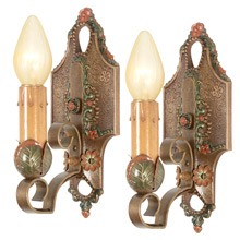 Pair Of Revival-Style Candle Sconces By Lincoln C1925