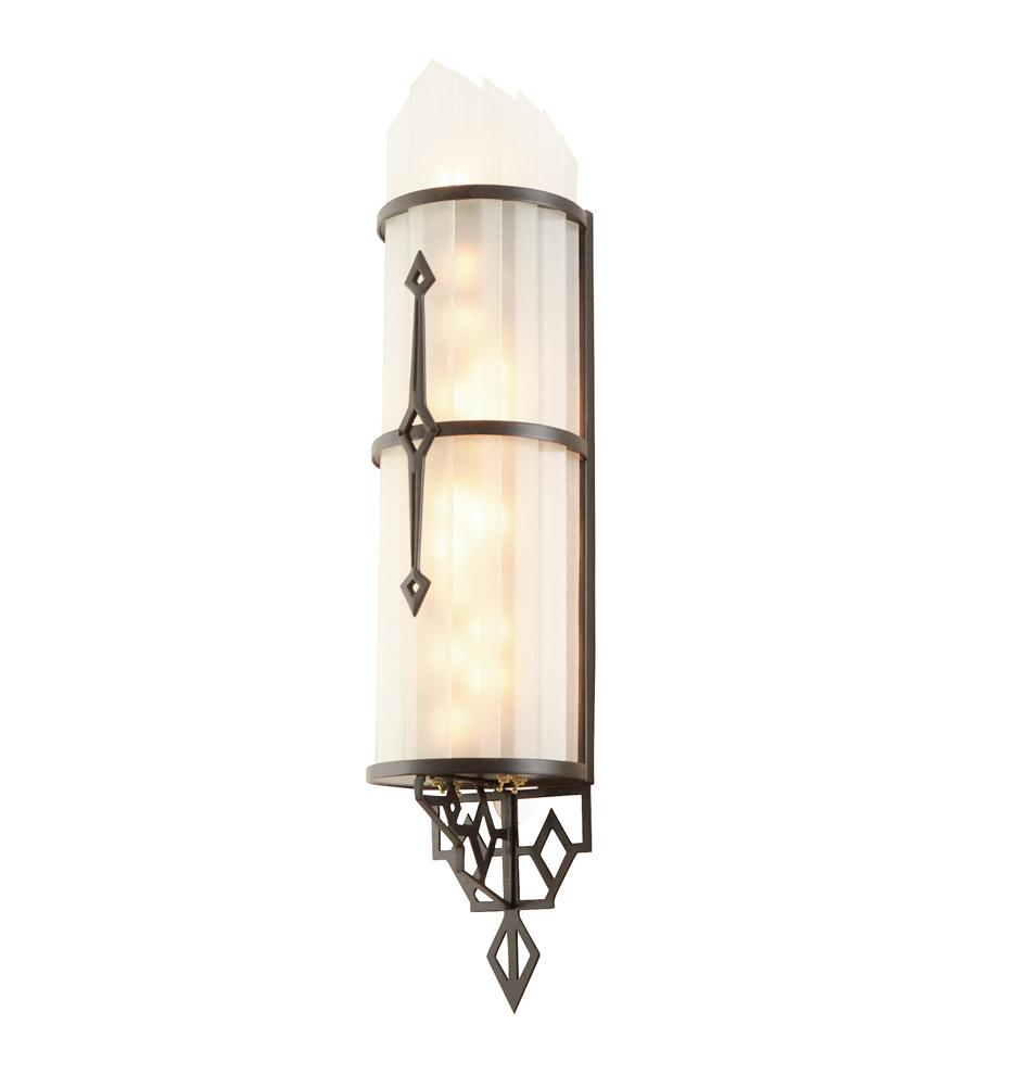 Art Deco Theater Wall Sconces : Pair of Twinkling Art Deco Theater Sconces Rejuvenation