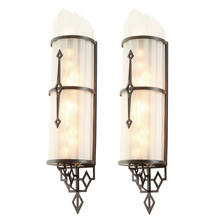 Pair of Twinkling Art Deco Theater Sconces c1935