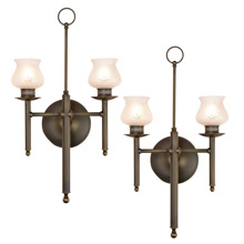 Essential Pair of Converted Gas Colonial Revival Sconces C1910
